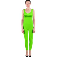 Bright Fluorescent Neon Green OnePiece Catsuits