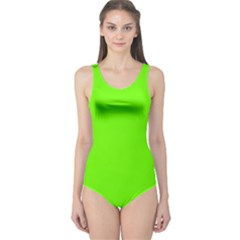 Bright Fluorescent Neon Green Women s One Piece Swimsuits