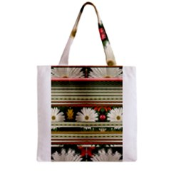 Pattern Flower  Grocery Tote Bags