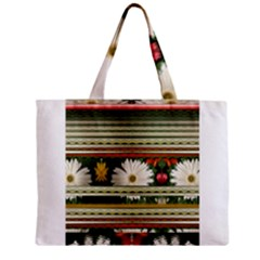 Pattern Flower  Zipper Tiny Tote Bags