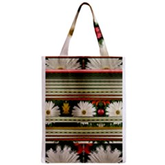 Pattern Flower  Zipper Classic Tote Bags