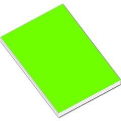 Bright Fluorescent Neon Green Large Memo Pads