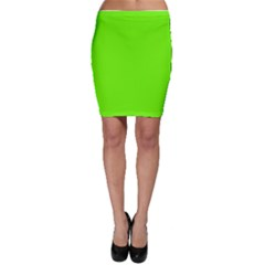 Bright Fluorescent Neon Green Bodycon Skirts