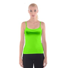 Bright Fluorescent Neon Green Spaghetti Strap Tops
