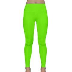 Bright Fluorescent Neon Green Yoga Leggings