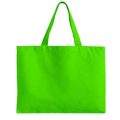 Bright Fluorescent Neon Green Zipper Tiny Tote Bags