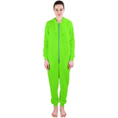 Bright Fluorescent Neon Green Hooded Jumpsuit (Ladies)