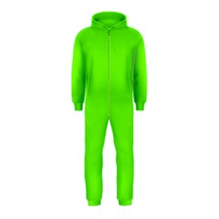 Bright Fluorescent Neon Green Hooded Jumpsuit (Kids)