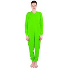 Bright Fluorescent Neon Green OnePiece Jumpsuit (Ladies)