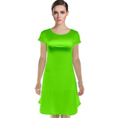 Bright Fluorescent Neon Green Cap Sleeve Nightdresses