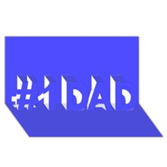 Neon Blue #1 DAD 3D Greeting Card (8x4)