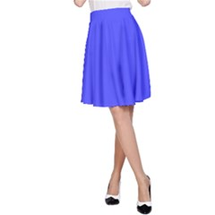 Neon Blue A-Line Skirts