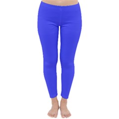 Neon Blue Winter Leggings