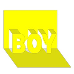 Bright Fluorescent Yellow Neon BOY 3D Greeting Card (7x5)