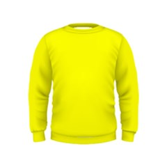 Bright Fluorescent Yellow Neon Boys  Sweatshirts