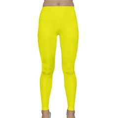 Bright Fluorescent Yellow Neon Yoga Leggings