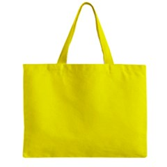 Bright Fluorescent Yellow Neon Zipper Tiny Tote Bags