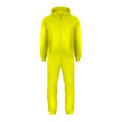 Bright Fluorescent Yellow Neon Hooded Jumpsuit (Kids)