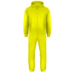 Bright Fluorescent Yellow Neon Hooded Jumpsuit (Men)