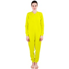 Bright Fluorescent Yellow Neon OnePiece Jumpsuit (Ladies)
