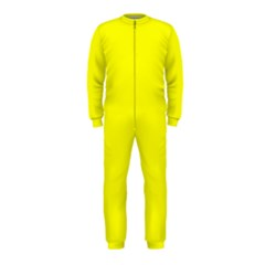 Bright Fluorescent Yellow Neon OnePiece Jumpsuit (Kids)