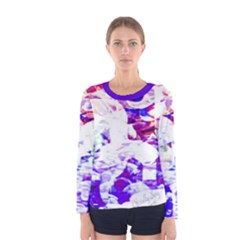 Officially Sexy Candy Collection Purple Strap Women s Long Sleeve T Shirt