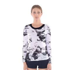 Officially Sexy Candy Collection Black & White Women s Long Sleeve T-shirt