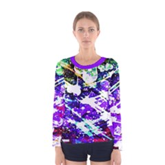 Officially Sexy Floating Hearts Collection Purple Women s Long Sleeve T Shirt