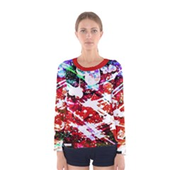 Officially Sexy Floating Hearts Collection Red Women s Long Sleeve T-shirt