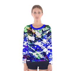 Officially Sexy Floating Hearts Collection Blue Women s  Long Sleeve T-shirt