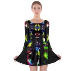 Gift By Saprillika Long Sleeve Skater Dress