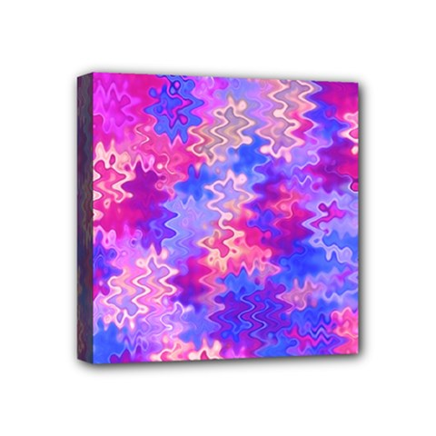 Pink And Purple Marble Waves Mini Canvas 4  X 4