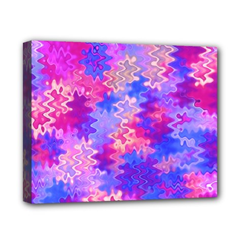 Pink And Purple Marble Waves Canvas 10  X 8