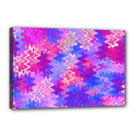 Pink And Purple Marble Waves Canvas 18  X 12