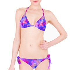 Pink and Purple Marble Waves Bikini Set