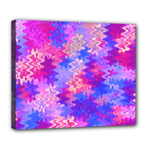 Pink And Purple Marble Waves Deluxe Canvas 24  X 20
