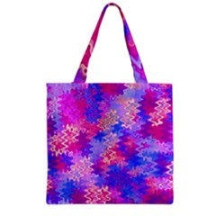 Pink and Purple Marble Waves Grocery Tote Bags