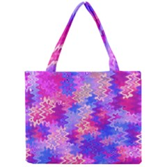 Pink and Purple Marble Waves Tiny Tote Bags