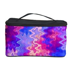 Pink and Purple Marble Waves Cosmetic Storage Cases