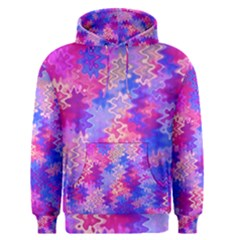 Pink And Purple Marble Waves Men s Pullover Hoodies