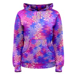 Pink and Purple Marble Waves Women s Pullover Hoodies