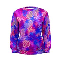 Pink and Purple Marble Waves Women s Sweatshirts