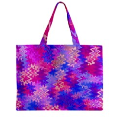 Pink And Purple Marble Waves Zipper Tiny Tote Bags