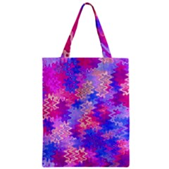 Pink and Purple Marble Waves Zipper Classic Tote Bags