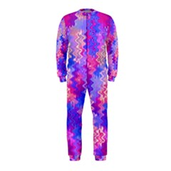 Pink And Purple Marble Waves Onepiece Jumpsuit (kids)