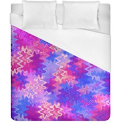 Pink And Purple Marble Waves Duvet Cover Single Side (double Size)