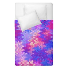 Pink And Purple Marble Waves Duvet Cover (single Size)