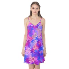 Pink And Purple Marble Waves Camis Nightgown