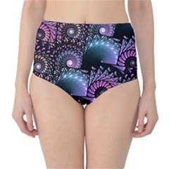 Stunning Sea Shells High-Waist Bikini Bottoms