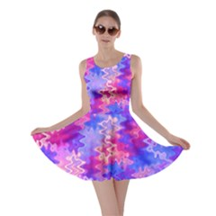 Pink And Purple Marble Waves Skater Dresses
